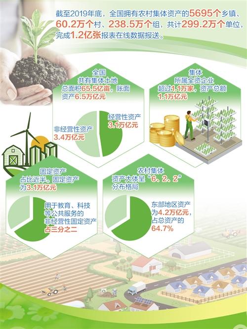 """全国农村集体""""家底""""摸清楚了——土地总面积65.5亿亩,账面资产6.5万亿元"""